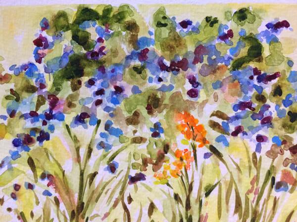 Blue Hydrangeas by Artist Michele Francoeur