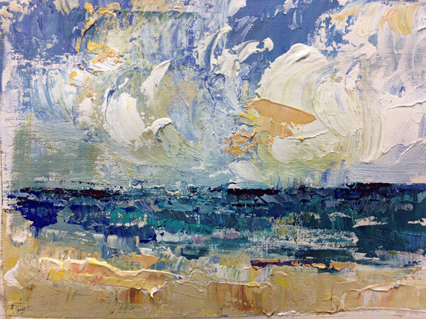 Blue Seas by Artist Michele Francoeur