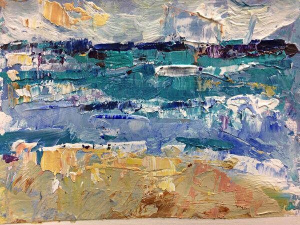 Blue Water by Artist Michele Francoeur