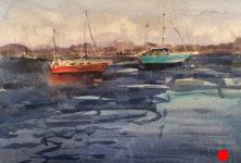 maine boats by artist doug farrick