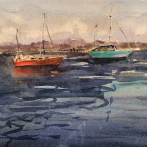 maine boats by artist doug farrick