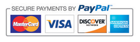 Paypal logo and credit cards
