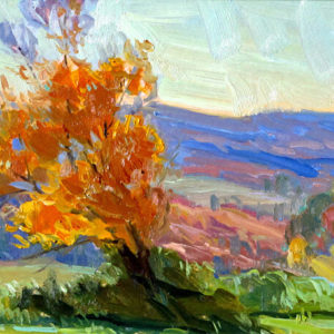 Painterly Landscape by artist Judith Reeve